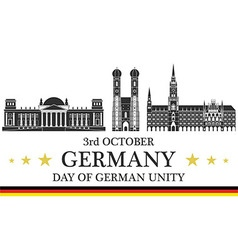 Independence day germany vector