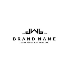 Letter dwb logo design concept vector