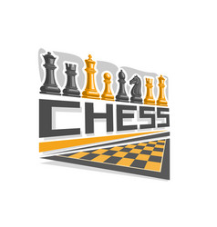 Logo for chess board vector