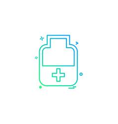 medicine bottle tablets icon desige vector image