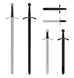 Medieval sword set vector image