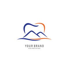 mount dental symbol logo vector image