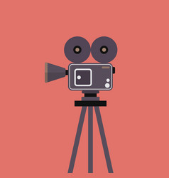 movie camera on tripod vector image