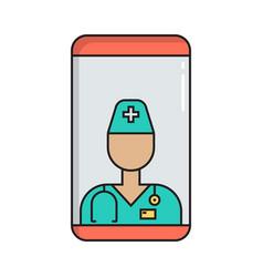 online doctor consultation simple medicine icon vector image