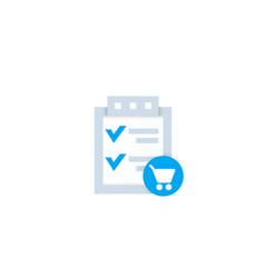 Online order icon vector