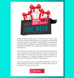 Only one week price reduction clearance label vector