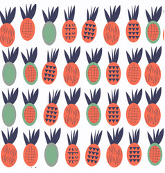 Pineapples seamless abstract fruits patten it is vector