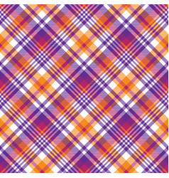 Pink orange plaid madras seamless pattern vector