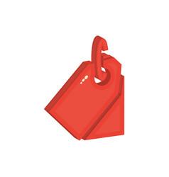 price tag isometric flat icon trade symbol vector image