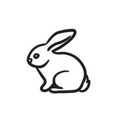 Rabbit sketch icon vector