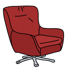 Red comfortable armchair vector