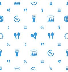Rhythm icons pattern seamless white background vector