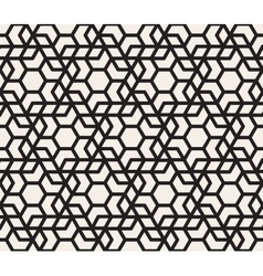 Seamless Black And White Hexagonal vector