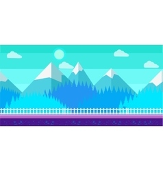 Seamless cartoon winter landscape for vector image