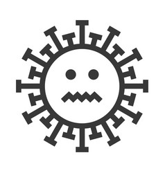 smile virus emoji smiley face icon vector image