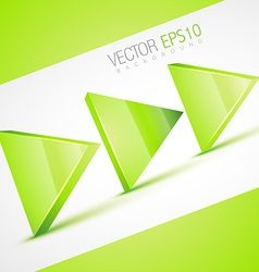 stylish 3d arrow vector image