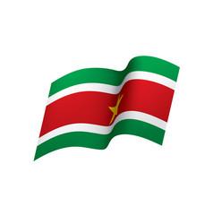 Suriname flag vector
