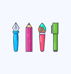 tools for drawing and writing filling documents vector image