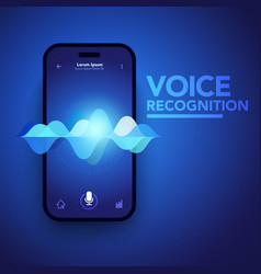 voice recognition on smartphone vector image