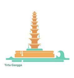 Water palace tirta gangga landmark in bali vector