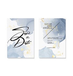 Wedding save date invitations and card vector