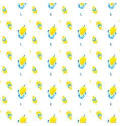 Yellow flowers patt 02 vector image
