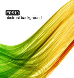 Abstract color wave background vector image