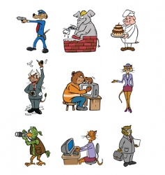 animal professions vector image vector image