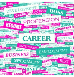 CAREER vector image vector image