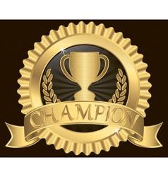 Champion Silk Label vector image vector image