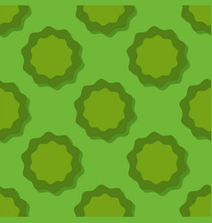 colored green circle seamless pattern shape art vector image