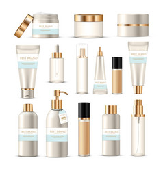 cosmetic packaging tubes set vector image vector image