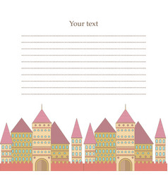 Postcard with old mansion vector