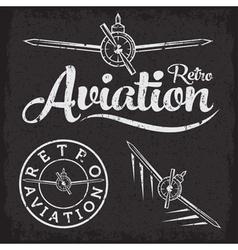 retro grunge aviation label vector image