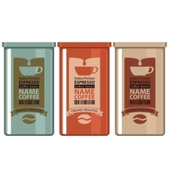 set labels coffee vector image vector image