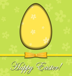 Abstract Easter egg greeting card vector image vector image