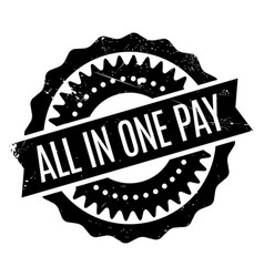 All in one pay rubber stamp vector