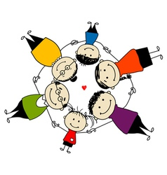 Happy family together frame for your design vector image vector image