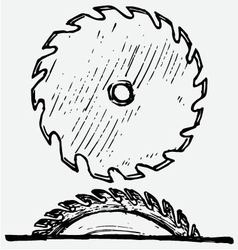 Industrial circular saw disk vector image vector image