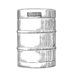 Metal beer keg vector