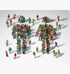 symbol big man and woman group vector image vector image