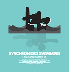 Synchronized Swimming Graphic Symbol vector image vector image