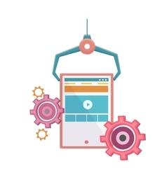 Web analytics icon vector image vector image