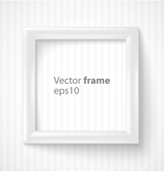 White square 3d photo frame with shadow vector image