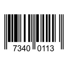 Bar code with fake numbers vector image vector image