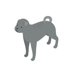 Bulldog dog icon isometric 3d style vector image vector image