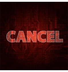 cancel vector image