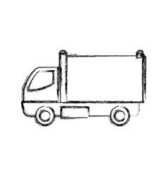 cargo truck vehicle vector image vector image