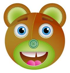 Cute bear toy vector image vector image