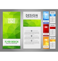 Design geometry polygonal flyers vector image vector image